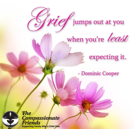 grief jumps out least expect it