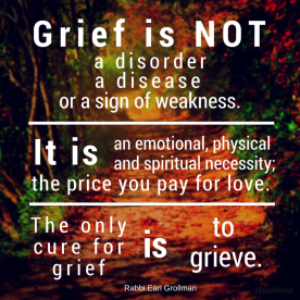 grief not a disorder