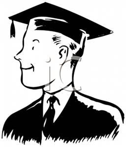cartoon male graduate