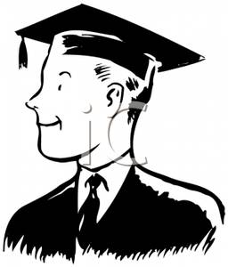cartoon male graduate