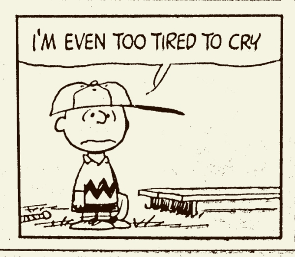 charlie brown too tired to cry