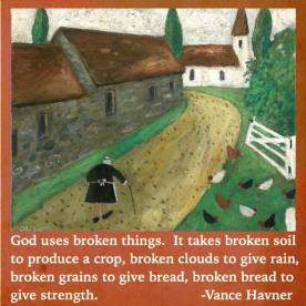 god uses broken things
