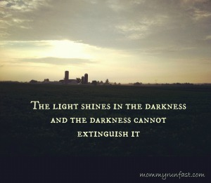 light shines in the darkness image