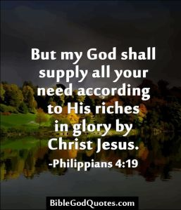 my god shal supply all your needs