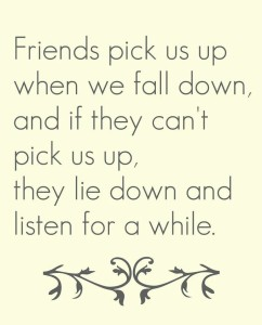 friends pick us up
