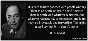 death matters lewis