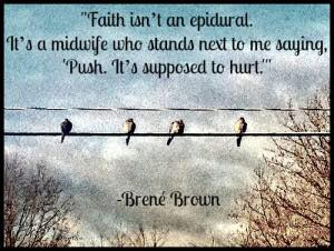 faith is not an epidural