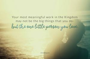 the one little person you love