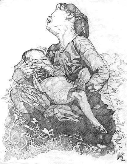 pencil-drawing-bereaved-mother