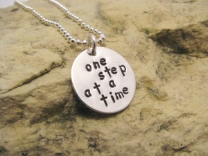 one step at a time necklace