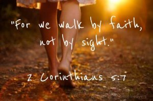 walk by faith feet on path