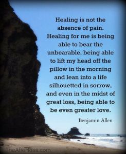healing is not the absence of pain silhouette of sorrow