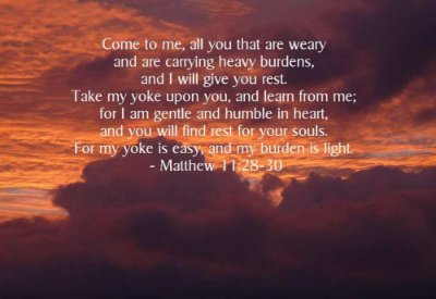 you who are weary come to me