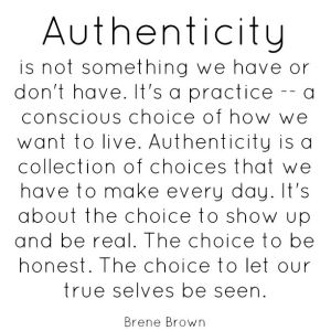 authenticity brene