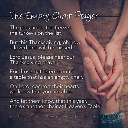 empty chair prayer
