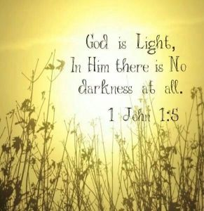 in him is no darkness