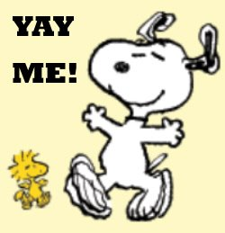 yay me snoopy