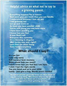 helpful advice what not to say to a bereaved parent