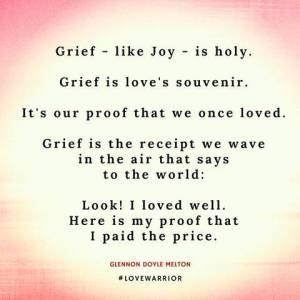 grief like joy is holy receipt pink