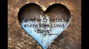 grief only exists where love lived first