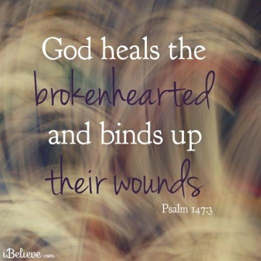 heals the broken hearted