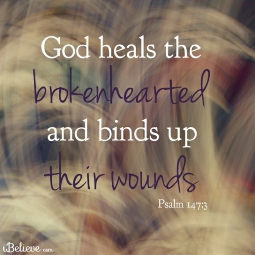 heals the broken hearted