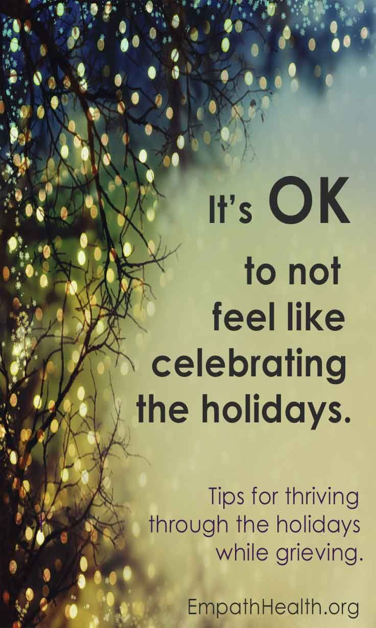 its ok to not feel like celebrating christmas