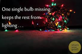 one bulb missing