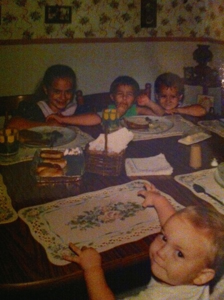 dominic and siblings little children at nannys