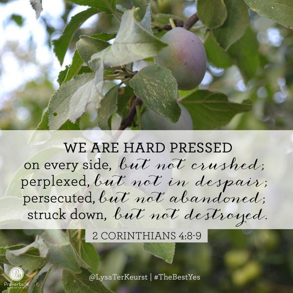 hard pressed but not destroyed