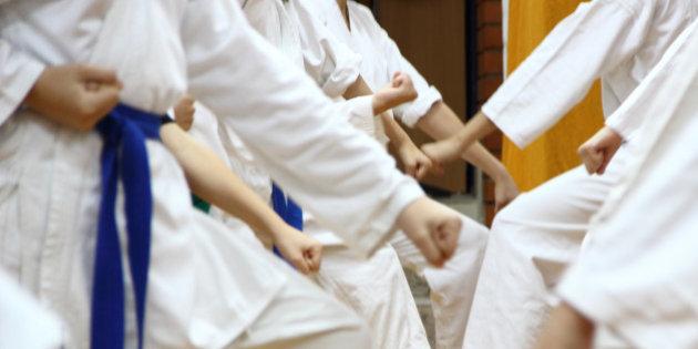 Kids on karate.