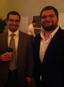 julian and dominic coffee at elaines wedding