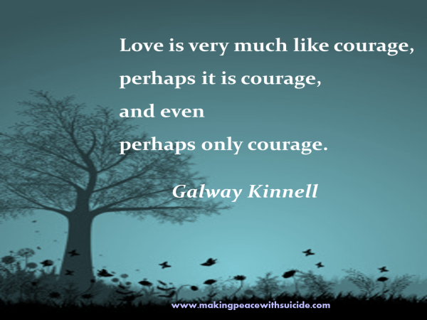 love is courage