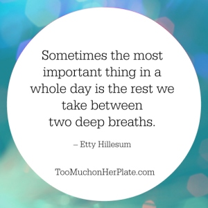 sometimes the most important thing is the rest between two breaths