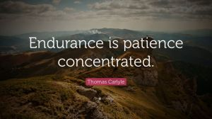 endurance is patience concentrated