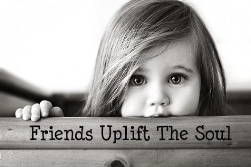 friends uplift the soul little girl