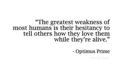 greatest weakness of humans optimus prime