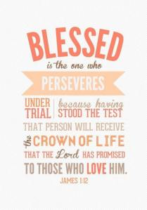 blessed is the one who perseveres