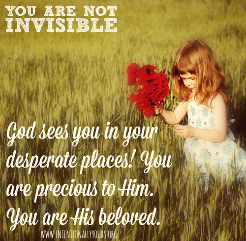 god sees you in your desperate places