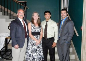 Dominic and family at PRSSA banquet