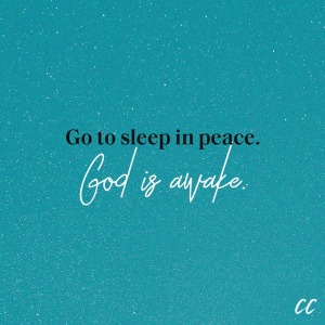 go to sleep in peace