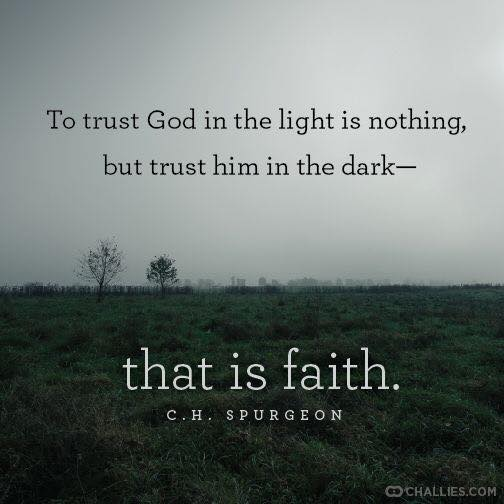 trust god in the light