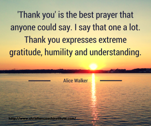 thank you is the best prayer sunset water