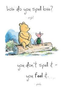 winnie the pooh feel love