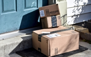 amazon boxes at door