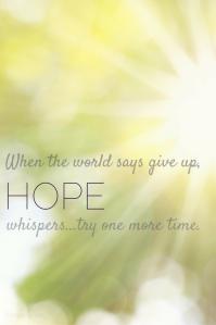 hope whispers blinding light