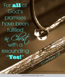 all the promises of god are yes in christ