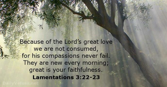mercies new every morning