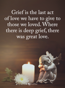 grief is the last act of love angel and candle