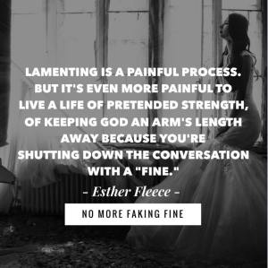 lamenting is a painful process